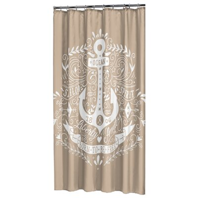 Anchor Shower Curtain Color: Beige