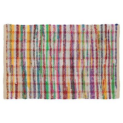 Madras Bath Rug Color: Beige