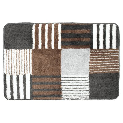 Carre Bath Rug Color: Brown