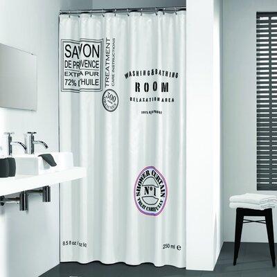 Verano Shower Curtain Color: White