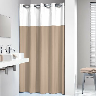 Doppio Shower Curtain Color: Beige