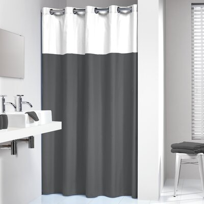 Jethro Shower Curtain Color: Gray