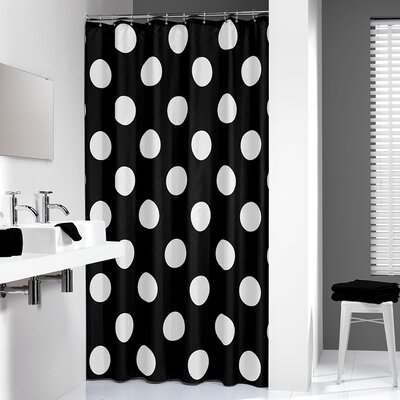 Polka Shower Curtain Color: Black