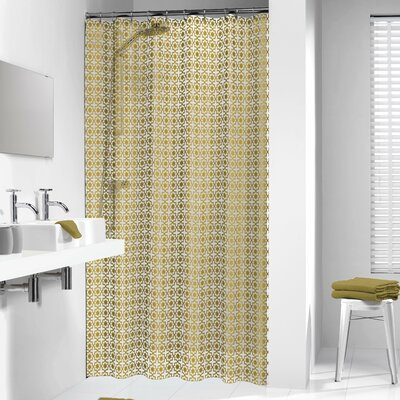 Hammam Shower Curtain Color: Gold
