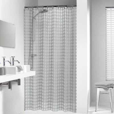 Hammam Shower Curtain Color: Silver
