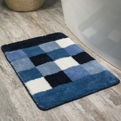 Rosalyn Bath Rug Color: Blue/Black