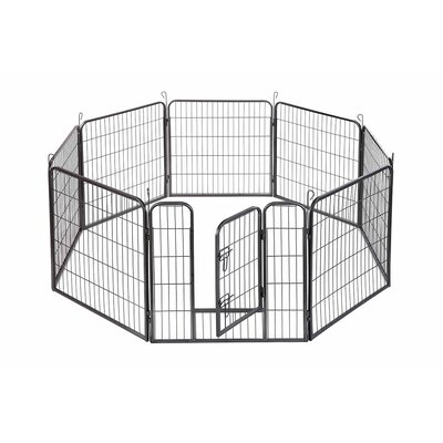Dog Playpen Crate 8 Panel Fence Yard Kennel Size: 32 H x 30.25 W x 30.25 D