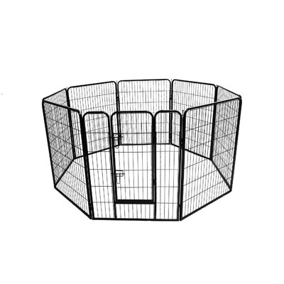 Dog Playpen Crate 8 Panel Fence Yard Kennel Size: 48 H x 30.25 W x 30.25 D