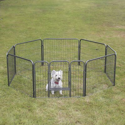 Pet Playpen 8 Panel Exercise Yard Kennel Size: 24 H x 30.25 W x 30.25 D