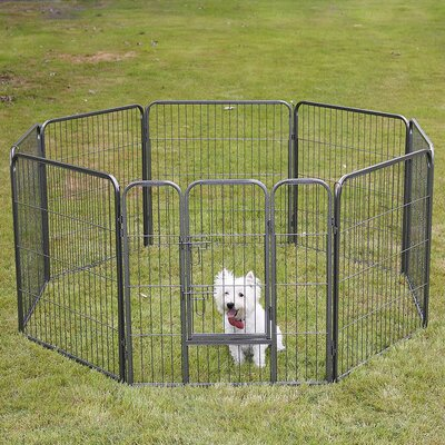 Pet Playpen 8 Panel Exercise Yard Kennel Size: 32 H x 30.25 W x 30.25 D