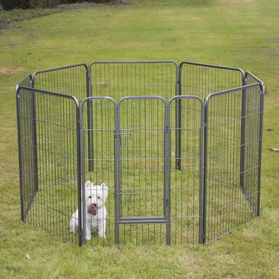 Pet Playpen 8 Panel Exercise Yard Kennel Size: 40 H x 30.25 W x 30.25 D