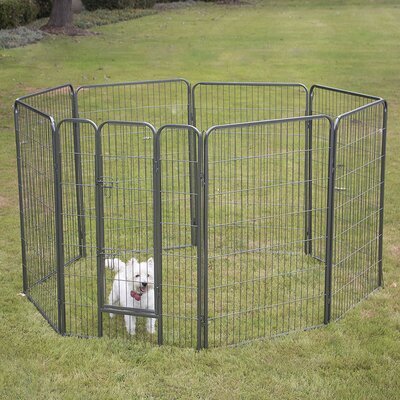 Pet Playpen 8 Panel Exercise Yard Kennel Size: 48 H x 30.25 W x 30.25 D