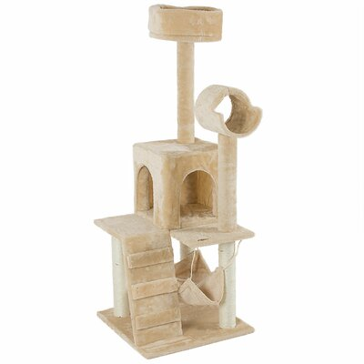 Mastro 36 Tower Scratcher Cat Tree and Condos Color: Almond