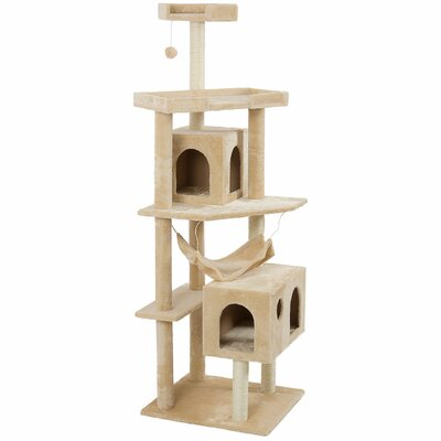 71 Scratch Post Cat Trees and Condos Color: Almond