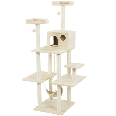 72 Tower Scratch Post Cat Trees and Condos Color: Beige