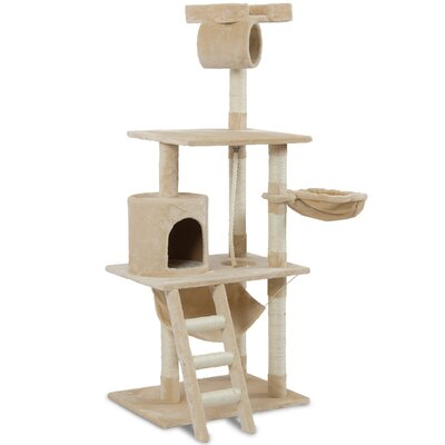 62 Tower Bed Scratchier Cat Trees and Condos Color: Almond
