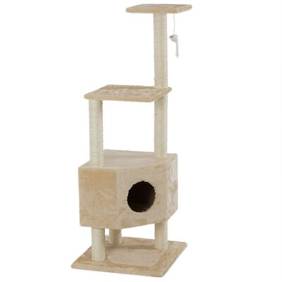 51 Scratcher Post Cat Trees and Condos Color: Almond