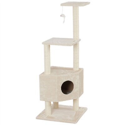 51 Scratcher Post Cat Trees and Condos Color: Beige