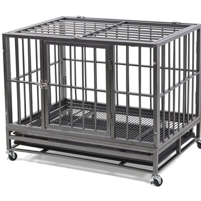 Heavy Duty Dog Pet Crate Color: Silver