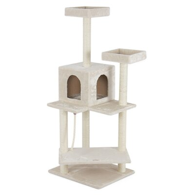 57 Deluxe Scratch Post Cat Trees and  Condos Color: Beige