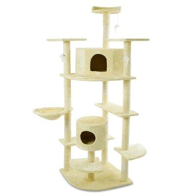 80 Cat Condo Color: Almond