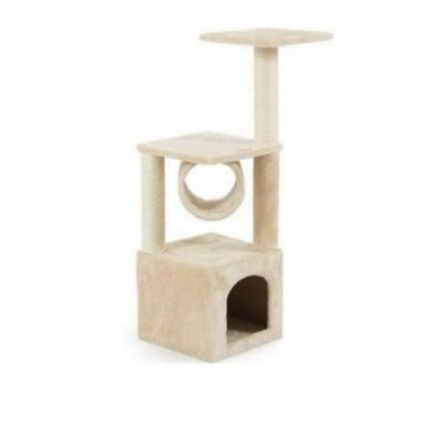Mastro 36 Tower Scratcher Cat Tree and Condos Color: Beige