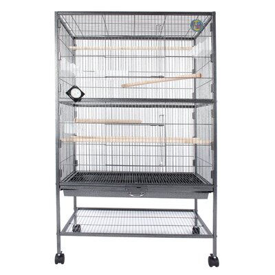 Parrot Stand Bird Cage with Casters