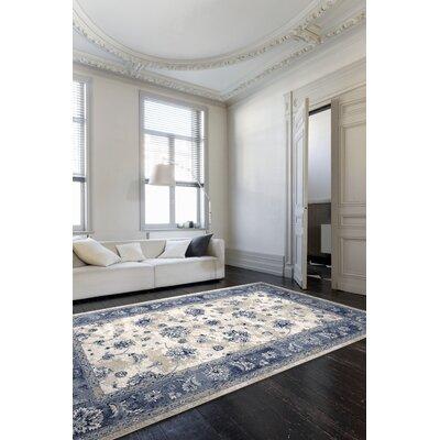 Bob Mackie Home Vintage Gray/Blue Area Rug Rug Size: 710 x 112