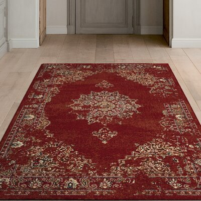 Bob Mackie Home Vintage Burnt Red Area Rug Rug Size: 53 x 77