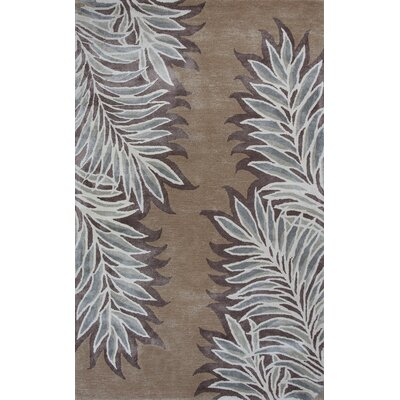 Bob Mackie Home Caramel Folia Area Rug Rug Size: Rectangle 9 x 13