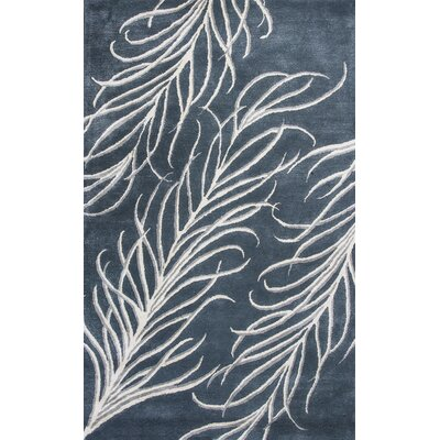Bob Mackie Home Slate Gray Plume Area Rug Rug Size: Rectangle 8 x 11