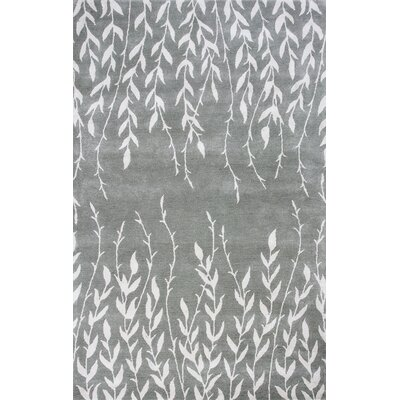 Bob Mackie Home Silver Tranquility Area Rug Rug Size: Rectangle 9 x 13
