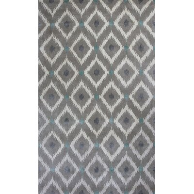 Bob Mackie Mirage Silver & Gray Area Rug Rug Size: Rectangle 9 x 13