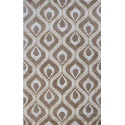 Bob Mackie Home Beige Eye Of The Peacock Area Rug Rug Size: Round 76