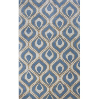 Bob Mackie Home Blue Eye Of The Peacock Area Rug Rug Size: Round 76