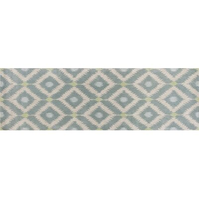 Bob Mackie Home Ice Blue Mirage Area Rug Rug Size: Runner 26 x 8