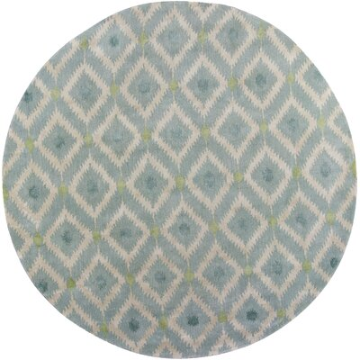 Bob Mackie Home Ice Blue Mirage Area Rug Rug Size: Round 76