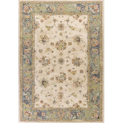 Bob Mackie Home Vintage Sand/Seafoam Area Rug Rug Size: Rectangle 53 x 77