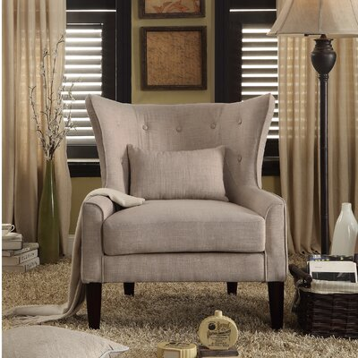 Beacon Falls Wingback Chair Upholstery: Beige