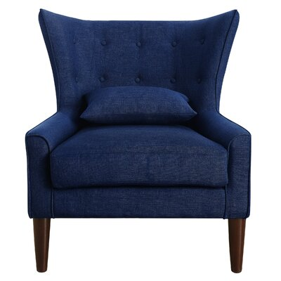 Beacon Falls Wingback Chair Upholstery: Navy