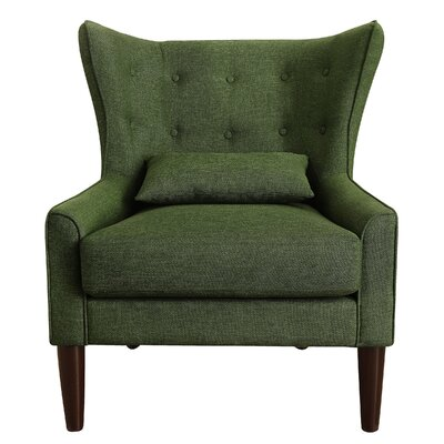 Beacon Falls Wingback Chair Upholstery: Green