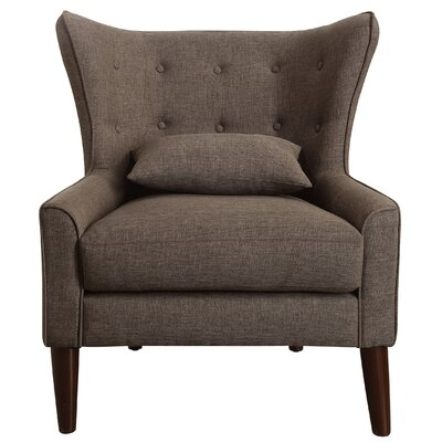 Beacon Falls Wingback Chair Upholstery: Brown