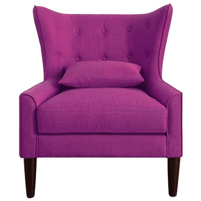 Beacon Falls Wingback Chair Upholstery: Pink