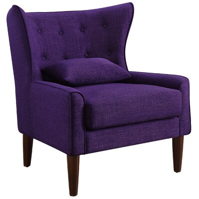 Beacon Falls Wingback Chair Upholstery: Violet