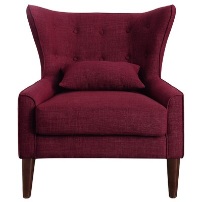Beacon Falls Wingback Chair Upholstery: Burgundy