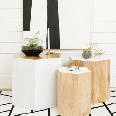 Modern 3 Piece End Table Set