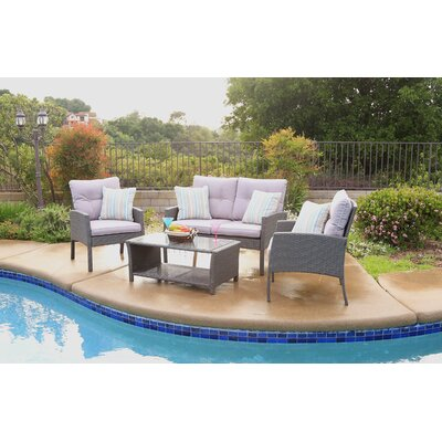 Cramden 4 Piece Deep Seating Group with Cushion