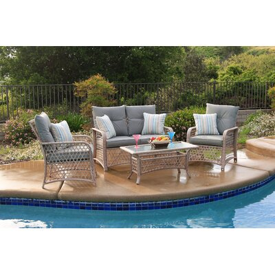 Attwater 4 Piece Deep Seating Group with Cushion