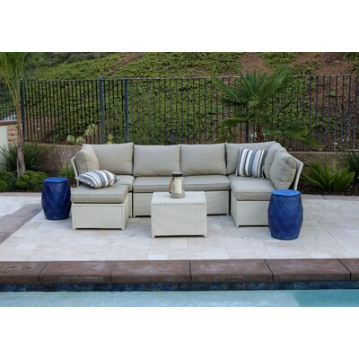 Gerde 7 Piece Sectional Seating Group with Cushion