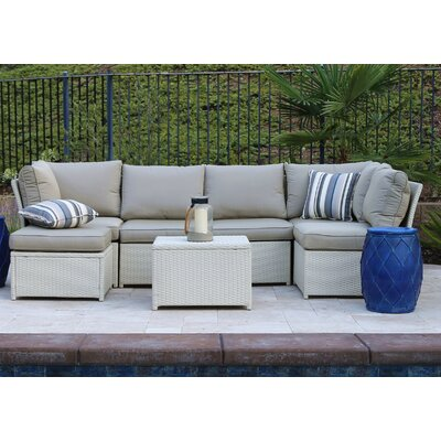 Geralynn 7 Piece Sectional Seating Group with Cushion